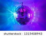glittery mirror disco ball on... | Shutterstock . vector #1315408943
