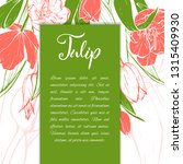 floral background. hand drawn... | Shutterstock .eps vector #1315409930