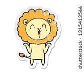distressed sticker of a... | Shutterstock .eps vector #1315413566