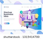 landing page template startup... | Shutterstock .eps vector #1315414700