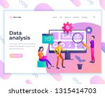 landing page template data... | Shutterstock .eps vector #1315414703