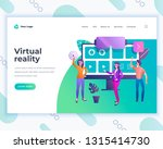 landing page template virtual... | Shutterstock .eps vector #1315414730