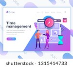 landing page template time... | Shutterstock .eps vector #1315414733