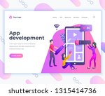 landing page template... | Shutterstock .eps vector #1315414736