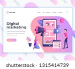 landing page template digital... | Shutterstock .eps vector #1315414739