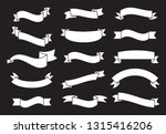 banners and ribbons set... | Shutterstock .eps vector #1315416206