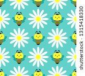 seamless pattern with cartoon... | Shutterstock .eps vector #1315418330
