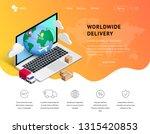 delivery service online vector...