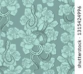 vector illustration  snake and... | Shutterstock .eps vector #1315424996