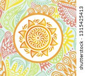 sun and flowers. vector... | Shutterstock .eps vector #1315425413