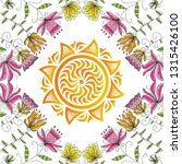 sun and flowers. vector... | Shutterstock .eps vector #1315426100