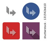 dotted icon of right... | Shutterstock . vector #1315426610
