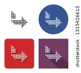 dotted icon of right... | Shutterstock . vector #1315426613