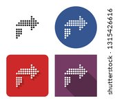 dotted icon of right... | Shutterstock . vector #1315426616