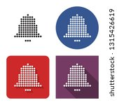 dotted icon of bell in four... | Shutterstock . vector #1315426619