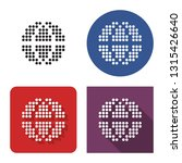 dotted icon of globe in four... | Shutterstock . vector #1315426640