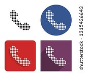 dotted icon of handset in four... | Shutterstock . vector #1315426643