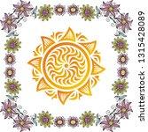 sun and flowers. vector... | Shutterstock .eps vector #1315428089