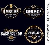set of vintage barbershop... | Shutterstock .eps vector #1315432709