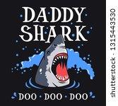 shark vector illustration for t ... | Shutterstock .eps vector #1315443530