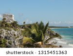 maya temples of  tulum  mexico. | Shutterstock . vector #1315451363