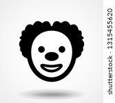 clown face icon. clown vector...   Shutterstock .eps vector #1315455620