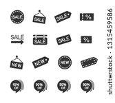 vector set sale discount new...   Shutterstock .eps vector #1315459586