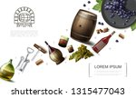 realistic winemaking elements... | Shutterstock .eps vector #1315477043