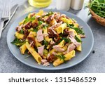 penne pasta with tuna chunks ... | Shutterstock . vector #1315486529