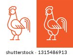 outline rooster icon. cock... | Shutterstock .eps vector #1315486913