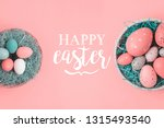 easter holiday background with... | Shutterstock . vector #1315493540