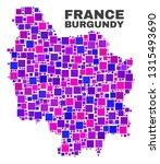 mosaic burgundy province map... | Shutterstock .eps vector #1315493690