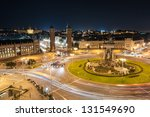 espanya square in barcelona and ... | Shutterstock . vector #131549690
