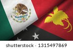 mexico and papua new guinea two ... | Shutterstock . vector #1315497869