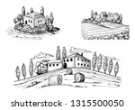 set of landscapes views with... | Shutterstock .eps vector #1315500050