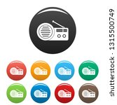 speaker radio icons set 9 color ... | Shutterstock .eps vector #1315500749