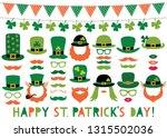 patricks day vector hats ... | Shutterstock .eps vector #1315502036