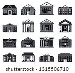 courthouse building icons set....   Shutterstock .eps vector #1315506710