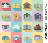 courthouse icons set. flat set... | Shutterstock .eps vector #1315506719
