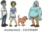 cartoon zombie characters.... | Shutterstock .eps vector #131550689