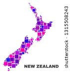 mosaic new zealand map isolated ... | Shutterstock .eps vector #1315508243