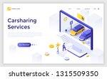 landing page giant computer... | Shutterstock .eps vector #1315509350