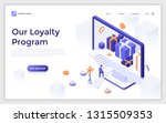landing page with giant... | Shutterstock .eps vector #1315509353
