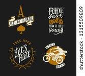 biker design t shirt set  ace...   Shutterstock .eps vector #1315509809