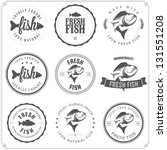 Set Of Made With Fish Stamps ...