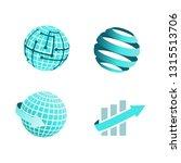 collectio of logos. blue logo... | Shutterstock .eps vector #1315513706