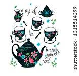 tea set. vector illustration | Shutterstock .eps vector #1315514399