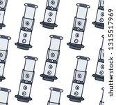 coffee maker seamless doodle... | Shutterstock .eps vector #1315517969