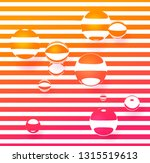 the reflection of the strips in ... | Shutterstock .eps vector #1315519613