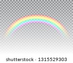 realistic rainbow isolated on... | Shutterstock .eps vector #1315529303